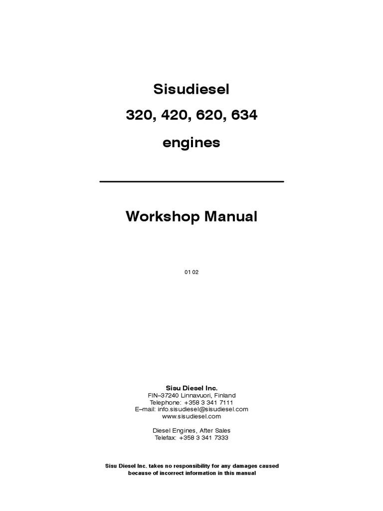 Sisu 320-420-620-634 manual   Engines   Engineering Tolerance