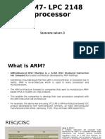 ARM7- LPC 2148 Processor