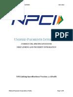 UPI Linking Specs Ver 1.1 Draft