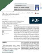 10.1016 J.conbUILDMAT.2014.11.063 High Temperature Performance Evaluation of Bio Oil Modified Asphalt Binders Using the DSR and MSCR Tests