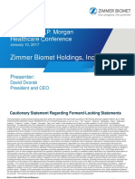 Zimmer-Biomet (ZBH) JP Morgan Presentation 2017