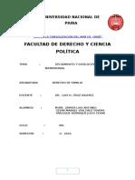 Decaimineto y Disolucion Del Vinculo Matrimonial.