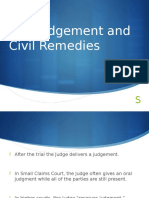 the judgement and civil remedies