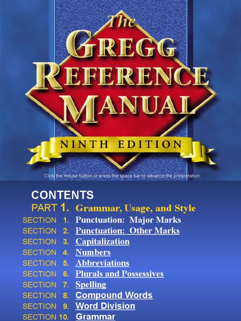 gregg reference manual comma sentence linguistics rh scribd com