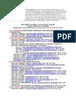 Reglamento Seguridad e Higiene 2008 - Indice