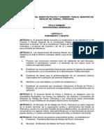 Reglamento Del Bando de Policía y Gobierno