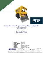 PR-PM-013 Procedimiento Preparación y Respuesta Ante Emergencia (Tipo)