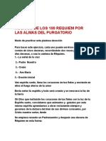 Rosario de Los 100 Requiem Por Las Almas Del Purgatorio