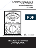 Manual Multimetro Minipa ET-3021A
