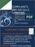 complaintsandrecallhandling-110908115139-phpapp01