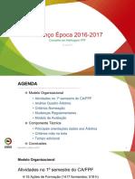 Balanço Época 2016-2017 - Conselho de Arbitragem FPF
