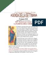 Agenda 27 Giugno