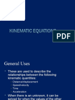 Kinematic Equations - Examville.com Study Guides Section