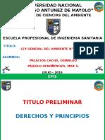 Ley General Del Ambiente n 28611 Oswaldo