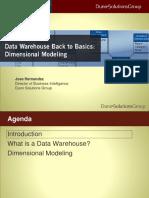 Data Warehouse Back to Basics