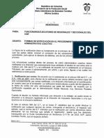 Notificacion en El Proceso de Cobro Coactivo