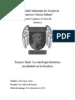 La Ontología Histórica Accidental en La Bioética