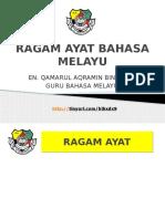 Ragam Ayat Bahasa Melayu