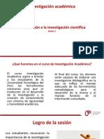 Sesion 1 Introduccion a La Investigacion Cientifica