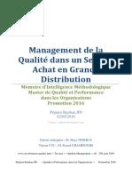 Management de La Qualité Dans Un Service Achat en Grande Distribution