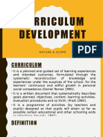 Curriculum Development_nature and Scope