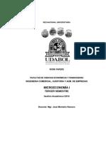 Work Paper Microeconomía I 2015