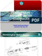 Pemeriksaan Motor Stater