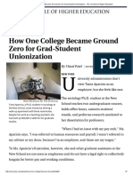 Chronicle of Higher Ed Ground Zero for Unionization Nov 23 2015