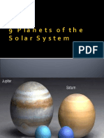 9 Planets of the Solar System