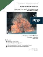 Catastrophic Rupture of Heat Exchanger - Tesoro Anacortes Refinery