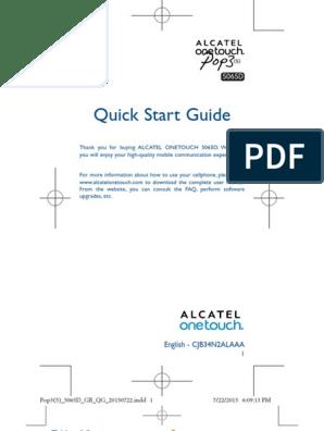 Alcatel One Touch Pop 3 (5) - Alcatel One Touch Pop 3 5 0