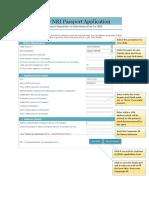 FilledSample Passport Application Form