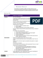 Eight-category Assessment Design Checklist