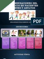 Recomendaciones Del Ejercicio en Pacientes Jovenes y Adultos