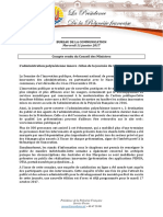 Compte Rendu Du Conseil Des Ministres - Mercredi 11 Janvier 2017 (3)