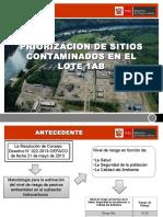 Exposicion Fonam - Sitios Contaminados Priorizados - 19-10-2015