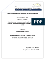 Memoria Informe Uriel Morales