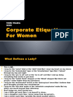 Corporate Etiquette for Women