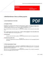 Continuum Mechanics - Tensors
