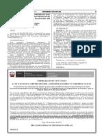 PERÚ RESOLUCION MINISTERIAL N° 0005-2017-MINAGRI