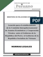 Acuerdo para el establecimiento de la Comisión Intergubernamental de Asuntos Económicos