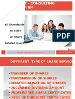 One Place for all Shareholders to Solve all Share Related Queries
