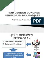 Penyusunan Dokumen Pengadaan Barang Dan Jasa