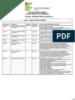 Edital 10 - Resultado Recurso Prova Escrita