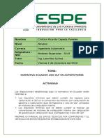 Normativa Ecuador Uso GLP en Automotores
