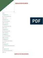 Tabulacion de Datos