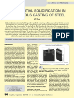 About Initial Solidification of Steel in Continuous Casting