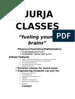 Uurja Classes Jan1