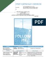 St. Timothy Parish Bulletin - June 27th, 2010