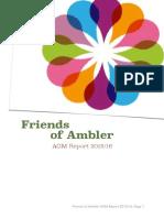 Friends of Ambler AGM Report - July 2016
